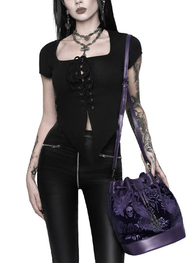 At Nightfall Velvet Handbag by Killstar