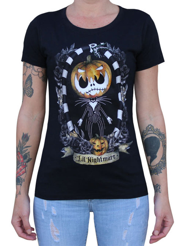 Women's Lil Nightmare Tee by Lowbrow Art Company