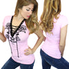 Women's Nashville Rose Biker Corset Tee by Demi Loon