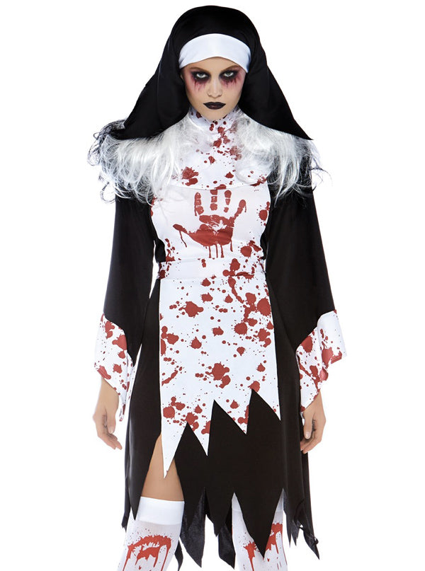 "Women's ""Killer Nun"" Costume by Leg Avenue (Black)"