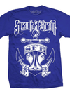 "Men's ""Nautical Anchor"" Tee by Steadfast Brand (Royal Blue)"