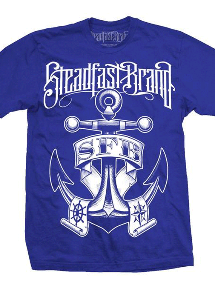 Men's Nautical Anchor Tee by Steadfast Brand (Royal Blue)