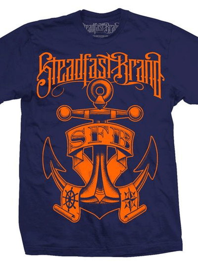 "Men's ""Nautical Anchor"" Tee by Steadfast Brand (Navy)"