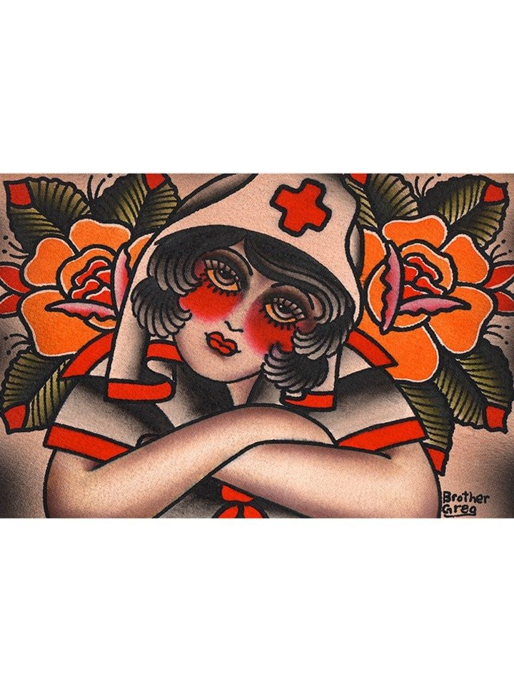 """Nurse"" Print by Brother Greg for Black Market Art - www.inkedshop.com"