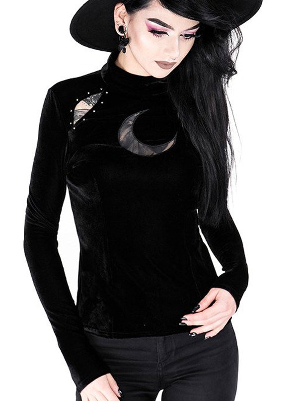 Women's Over the Moon Velvet Top by Restyle
