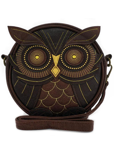 """Owl"" Crossbody Bag by Loungefly (Brown)"