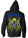 "Men's ""SFB Octopus"" Zip-Up Hoodie By Steadfast Brand (Black)"