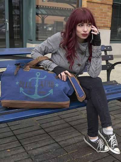 """Blue Star"" Overnighter Tool Bag by Trixie & Milo - www.inkedshop.com"