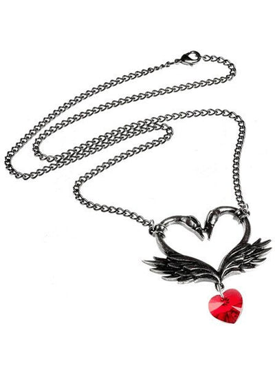 """The Black Swan Romance"" Necklace by Alchemy of England - www.inkedshop.com"