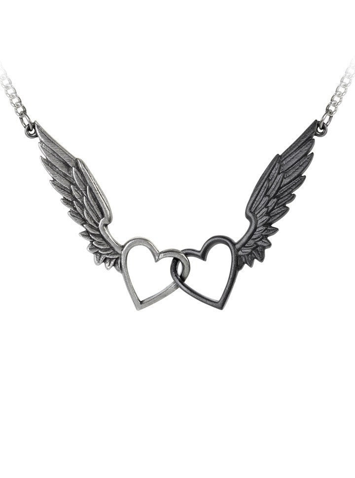 """Passio: Wings Of Love"" Necklace by Alchemy of England - www.inkedshop.com"