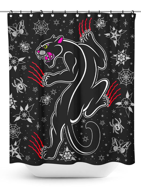 Crawling Panther Shower Curtain by Sourpuss