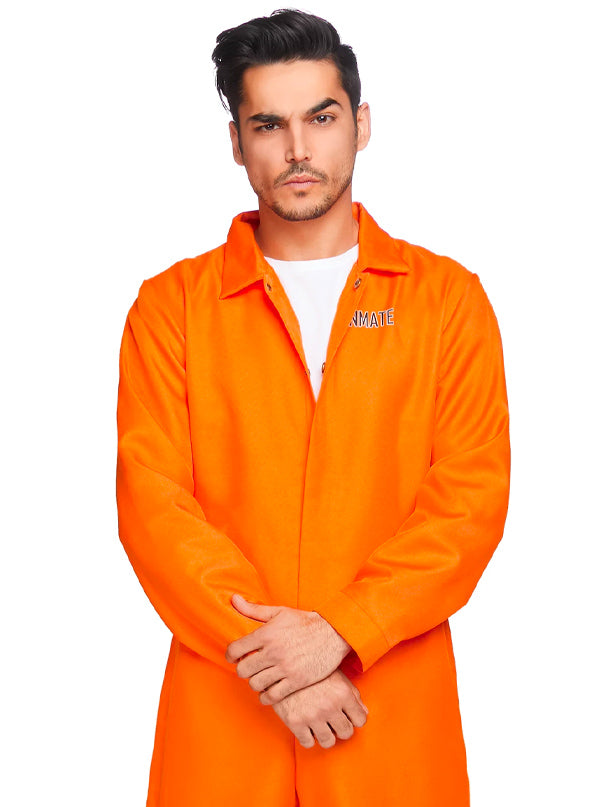 "Men's ""Prison Jumpsuit"" Costume by Leg Avenue (Orange)"