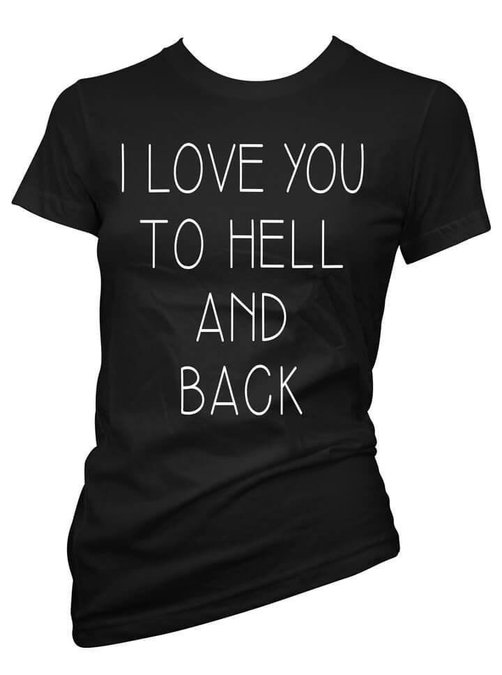 "Women's ""I Love You To Hell And Back"" Collection by Pinky Star (Black) - www.inkedshop.com"