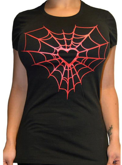 "Women's ""Heart Web"" Collection by Pinky Star (Black)"