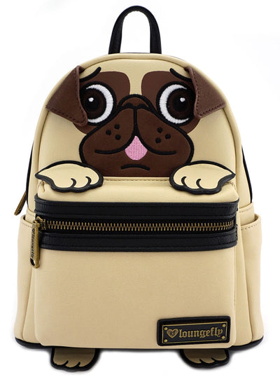 Pug Faux Leather Mini Backpack by Loungefly