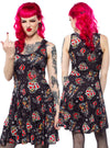 Women's Punk Rock Skater Dress by Sourpuss