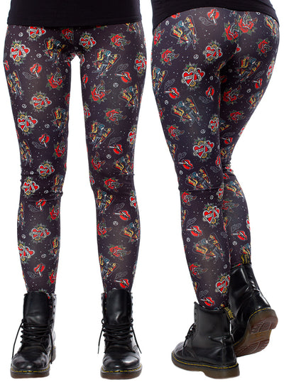 Women's Punk Rock Leggings by Sourpuss
