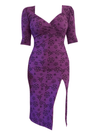"Women's ""Pentagram"" Bella Dress by Switchblade Stiletto (Purple)"