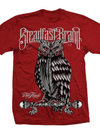 "Men's ""Perched Owl"" Tee by Steadfast Brand (Red)"