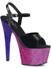 Women's Adore-709 Ombre Heel by Pleaser (Black/Fuchsia)