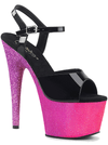 "Women's ""Adore-709 Ombre"" Heel by Pleaser (Black/Pink)"