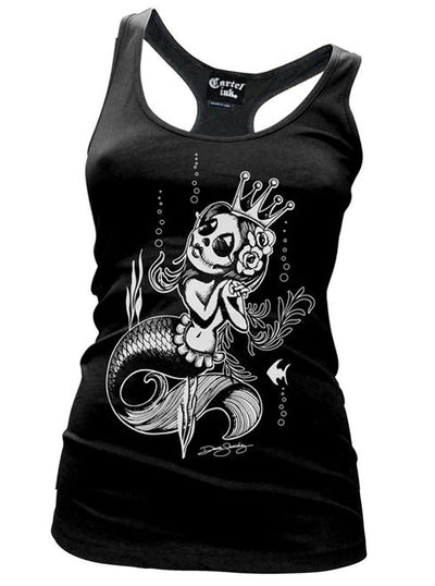 Women's Queen of the Sea Racerback Tank by Cartel Ink