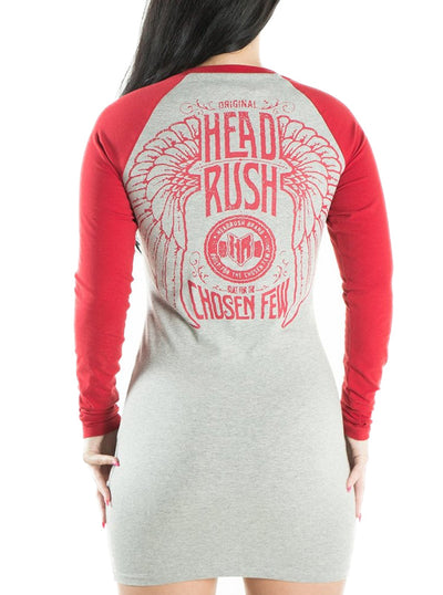 "Women's ""Bad Things You Did"" Raglan Dress by Headrush Brand (More Options)"