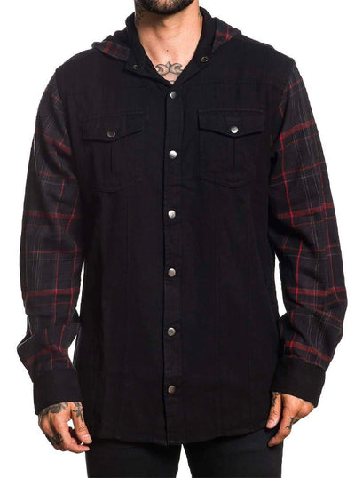 Men's Open Road Hooded Flannel by Sullen