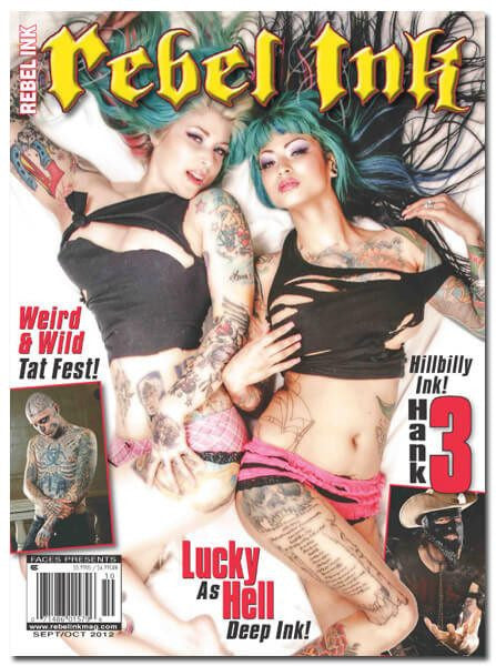Rebel Ink: Sep/Oct 2012 - Lucky As Hell - www.inkedshop.com