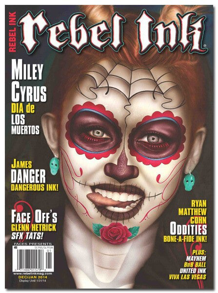 Rebel Ink: Dec/Jan 2014 - Miley Cyrus - www.inkedshop.com