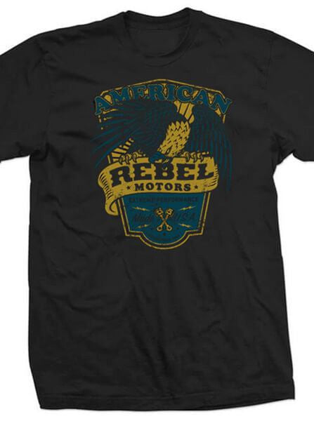 "Men's ""American Rebel Motors"" Tee by 7th Revolution (Black) - www.inkedshop.com"