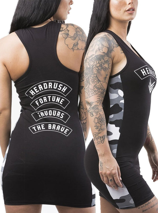 Women's Revelation Army Racer Back Dress by Headrush Brand