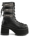 """Ranger 305"" Vegan Leather Heel by Demonia (Black)"