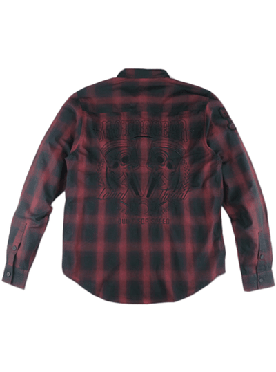 Men's Built for Speed Rust Plaid Long Sleeve by Lethal Threat