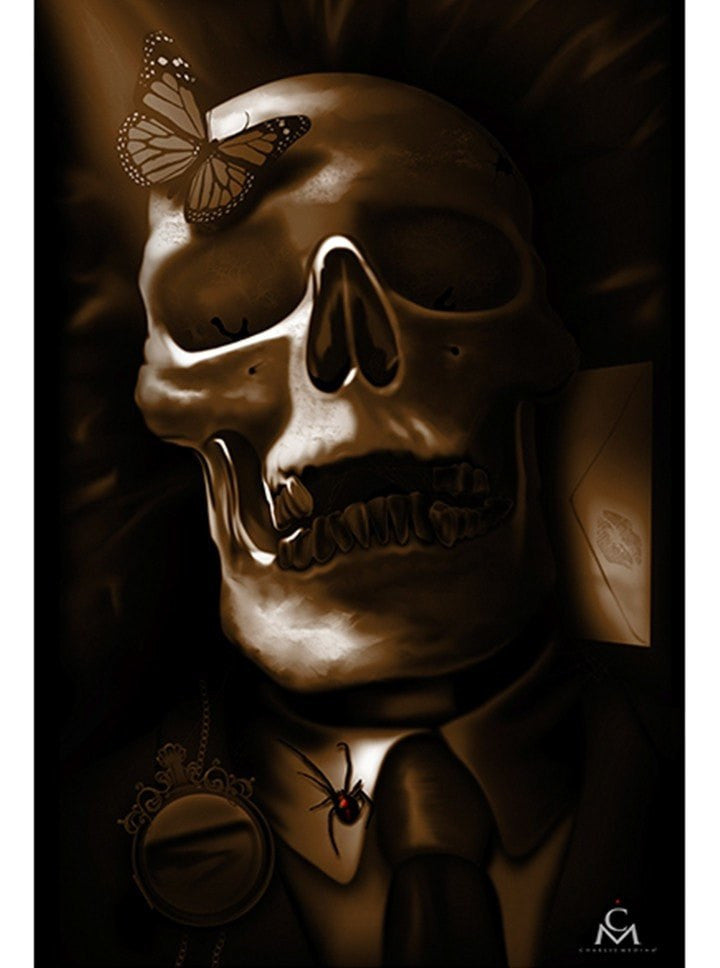 """Reincarnated"" Print by Charlie Media for Black Market Art - www.inkedshop.com"