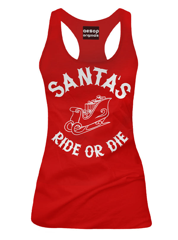 Women's Santa's Ride or Die Tank by Aesop Originals