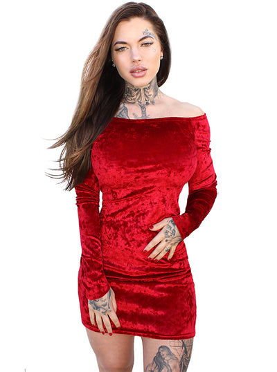 Women's Scarlett Long Sleeve Mini Dress by Demi Loon