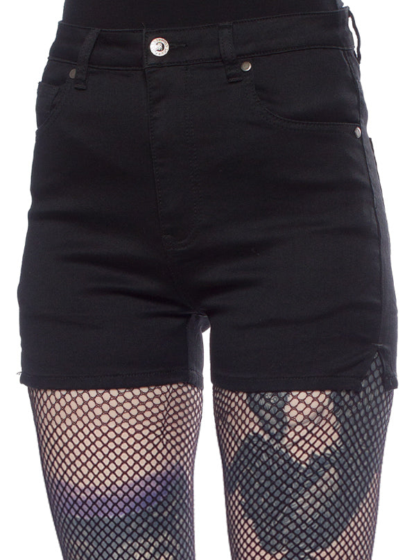 Women's Essential Shorts by Sourpuss (Black)