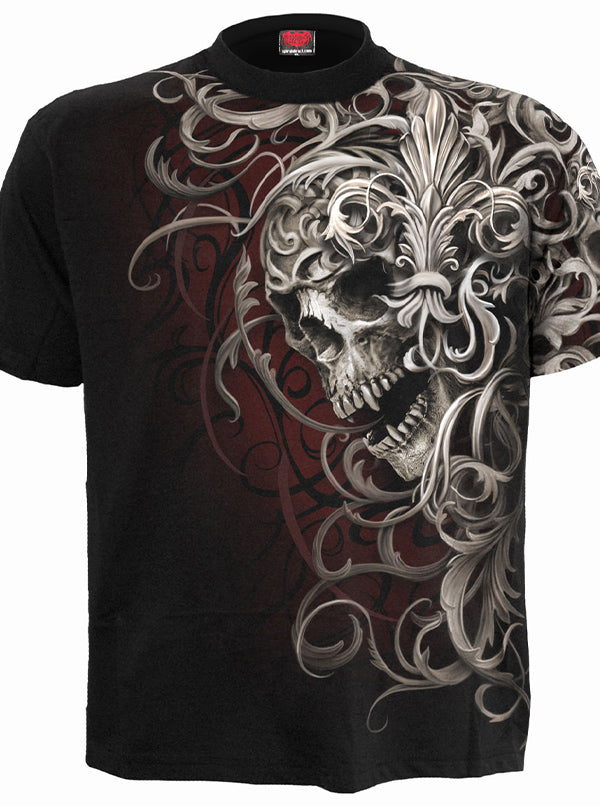 Men's Skull Shoulder Wrap Tee by Spiral USA