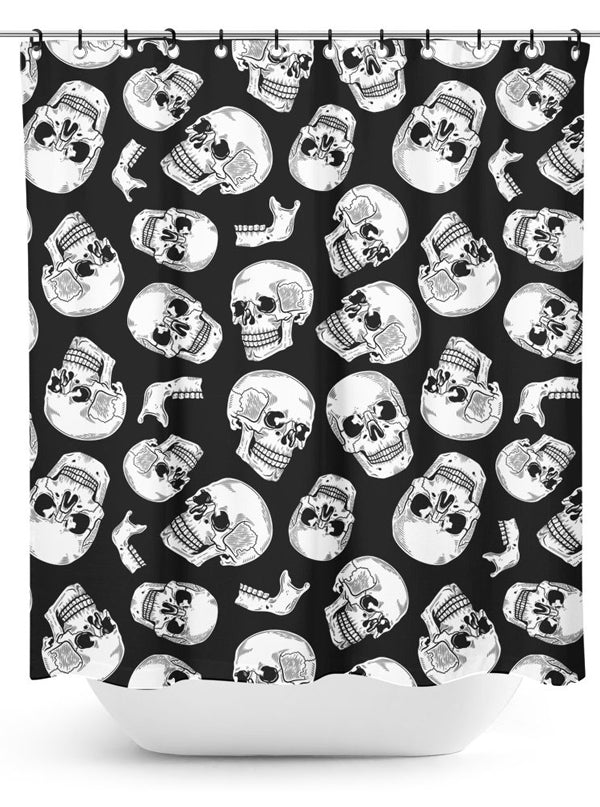 Anatomical Skulls Shower Curtain by Sourpuss