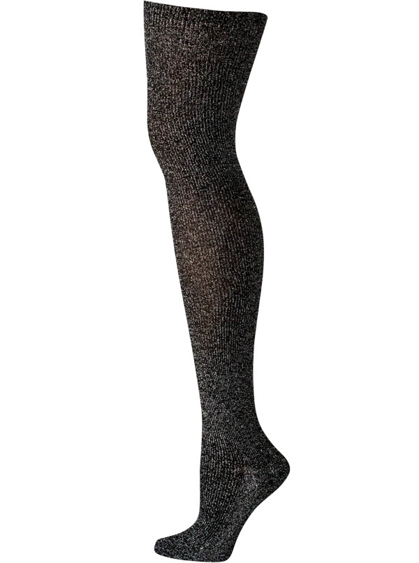 Women's Silver Glitter Over The Knee Socks