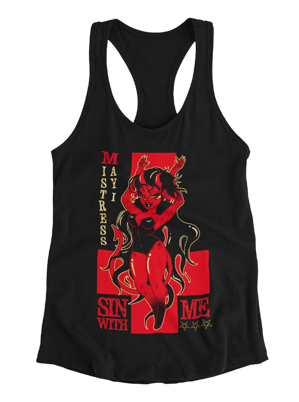 Women's Sin with Me Tank by Mistress May I