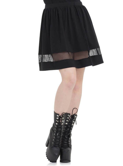 "Women's ""Nasty Net"" Skirt by Jawbreaker (Black) - www.inkedshop.com"