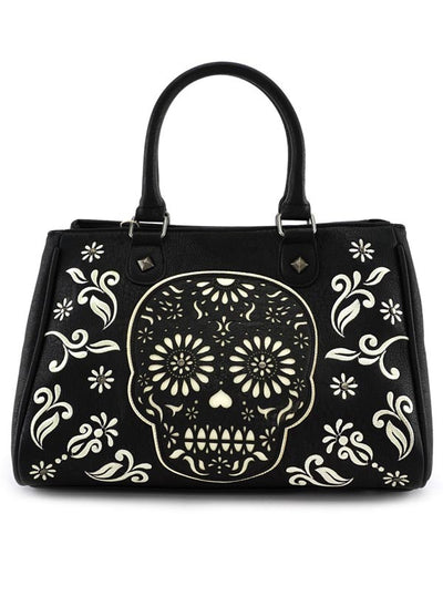 Sugar Skull Tote Bag by Loungefly