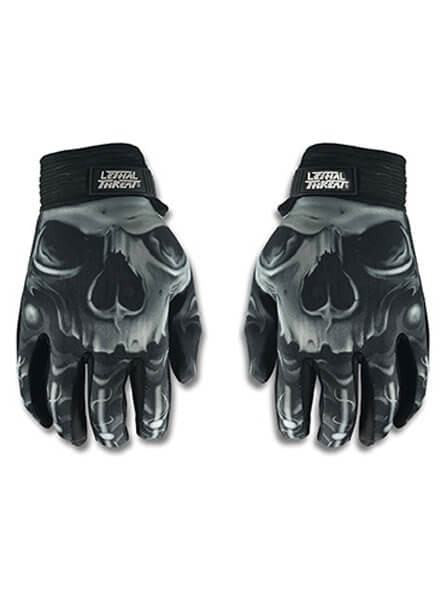 """Skull"" Gloves by Lethal Threat - www.inkedshop.com"