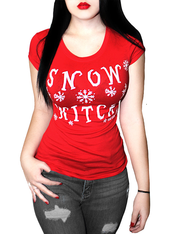Women's Snow Witch Fitted Tee by Demi Loon