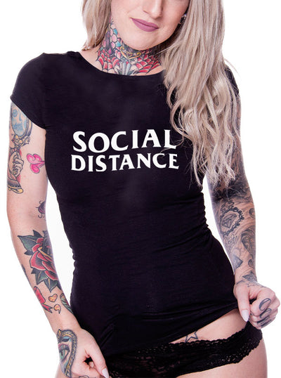 Unisex Social Distance Tee by Dirty Shirty