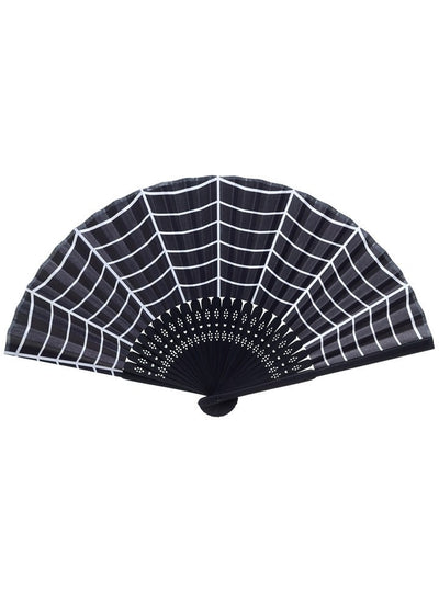 """Spiderweb"" Fan by Sourpuss (Black) - www.inkedshop.com"