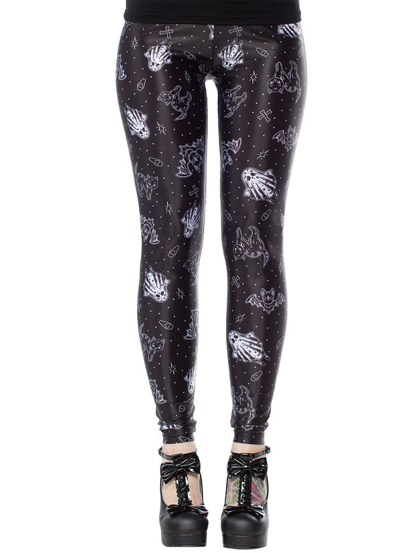 "Women's ""So Cute Its Spooky"" Leggings by Sourpuss (Black)"