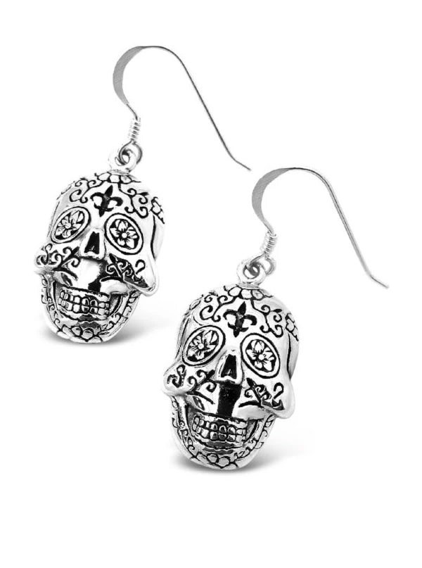 Sugar Skull Earrings by Cristy Cali